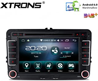 XTRONS 16G ROM Android 6.0 Quad Core 7 Inch HD Digital Touch Screen Car Stereo Radio DVD Player GPS OBD2 Screen Mirroring for Volkswagen Seat Skoda Golf Passat Jetta