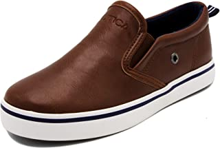 Nautica Kid's Akeley Youth Slip-On Casual Shoe Canvas Sneaker