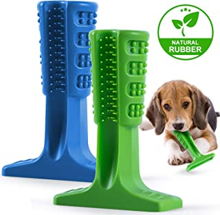 Durable Dog Toothbrush Stick Toys, Non Toxic Bite Resistant Silicone Pet Dog Toothbrush Brushing Stick Bite Toys, Suitable Small Medium Dogs Oral Care - 2 Pack