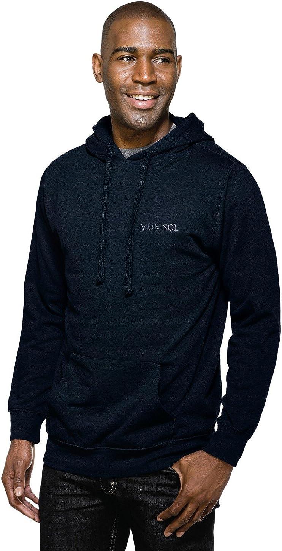 Tri-Mountain Men's 8.6 oz Hooded Sweatshirt, Navy, 4XLT