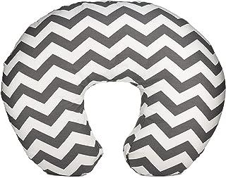 Org Store Premium Nursing Pillow Cover | Slipcover for Breastfeeding Pillows | Fits Boppy Pillows | Chevron Patterned (Gray)