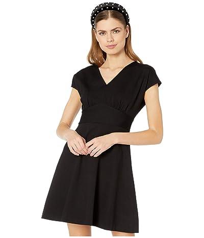 Kate Spade New York V-Neck Ponte Dress (Black) Women