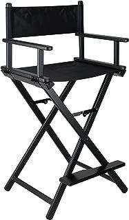 Ver Beauty Aluminum Director Makeup Chair, Black Matte