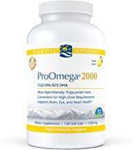 Nordic Naturals ProOmega 2000, Lemon Flavor - 2150 mg Omega-3-120 Soft Gels - Ultra High-Potency Fish Oil - EPA & DHA - Pr...