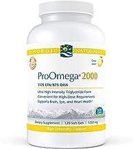 Nordic Naturals ProOmega 2000, Lemon Flavor - 2150 mg Omega-3 - 120 Soft Gels - Ultra High-Potency Fish Oil - EPA & DHA - Promotes Brain, Eye, Heart, & Immune Health - Non-GMO - 60 Servings