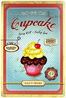Cupcake Lámina de Metal Retro para Bodega de Bodega casera Tienda de decoración del hogar