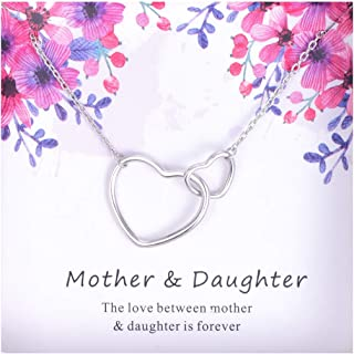 mother daughter half heart necklace