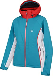 isolierte Jacken Dare 2b Damen Thrive Waterproof /& Breathable High Loft Insulated Ski /& Snowboard Jacket with Fixed Foldaway Hood and Snowskirt wasserdichte