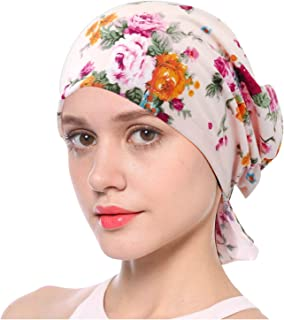 a66719f9409 L VOW Soft Turban Head Scarf Elastic Chemo Caps Cancer Beanie Hats for Women