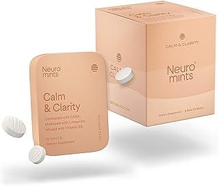 Neuro Mints NootropicCalm Mints |GABA + Vitamin D3 + L-theanine | Sugar free + Gluten free + Non GMO + Vegan | Ginger Ch...