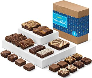 Fairytale Brownies Hanukkah Medley Gourmet Chocolate Kosher Food Gift Basket - Full-Size, Snack-Size and Bite-Size Brownies - 21 Pieces - Item CK321