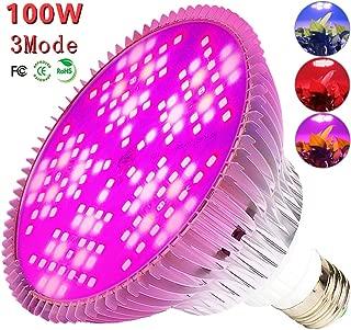 100W Led Grow Light Bulb, 3 Mode Growth, Bloom, Full Spectrum Led Plant Bulb 150 Leds Plant Light Bulb For Indoor Plants, Garden, Flowers, Vegetables, Greenhouse & Hydroponic E26 Light Bulb By MILYN