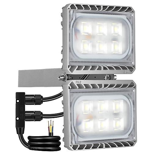 GOSUN® Foco proyector LED 60W para exteriores, equivalencia SAP 150W, 5400lm, blanco