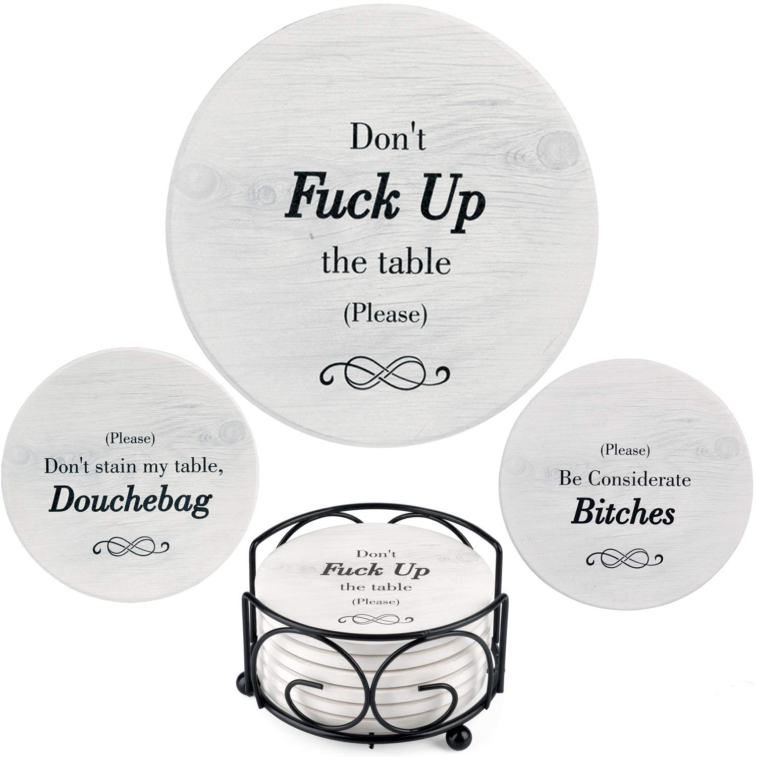 Funny Coasters for Drinks Absorbent with Holder | 6 Pcs Novelty Gift Set | 3 Different  sc 1 st  Amazon.com & Housewarming Gifts for Guys: Amazon.com