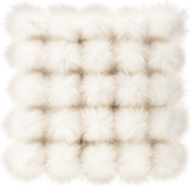 Junkin 50 Pieces Cheap mail order specialty store New item Faux Fur DIY Balls Pom Fl Poms