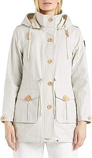 KHUJO Veste Femmes moibeal en Bleu Clair plus facilement Manteau court avec ceinture soldes 60/%