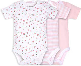 Burt's Bees Baby Unisex-Baby Bodysuits, 3-Pack Long & Short-Sleeve One-Pieces, 100% Organic Cotton Layette Set