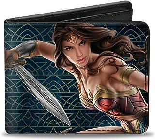 "Buckle-Down Buckle-Down Bifold Wallet Wonder Woman Accessory, Wonder Woman, 4.0"" x 3.5"""