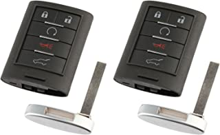 Car Key Fob Keyless Entry Remote fits Cadillac SRX 2010 2011 2012 2013 2014 2015 (NBG009768T), Set of 2 photo