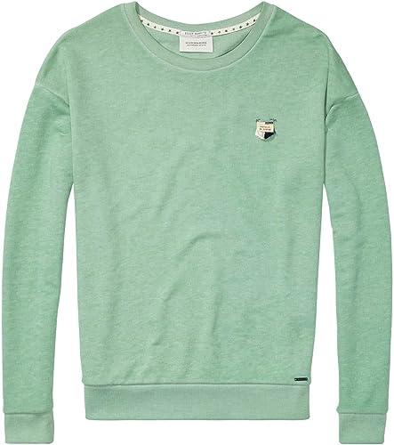 850e6333a6c719 Maison Sweatshirt Basic Out Sweat in Soft Quality Damen Scotch ...