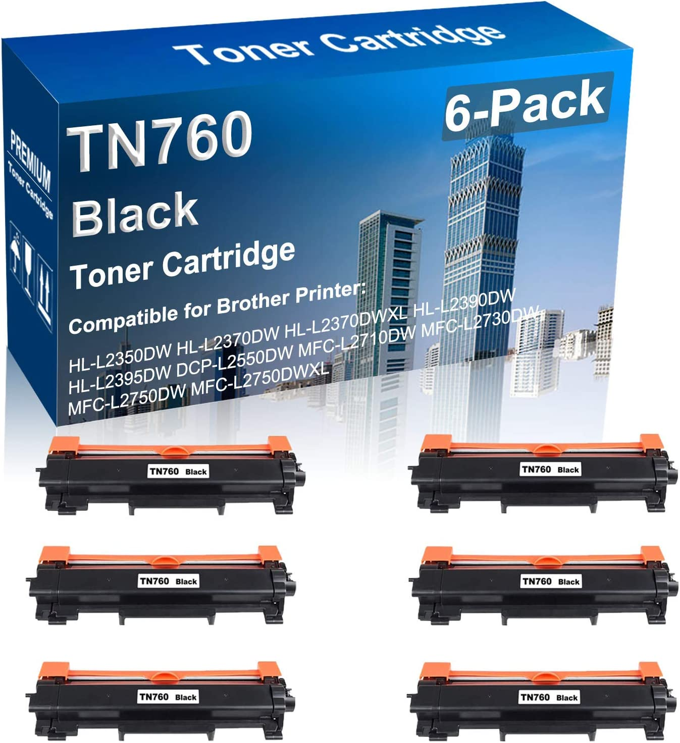 6-Pack Max 62% OFF Compatible Toner Selling and selling Cartridge High Yield for Replacement Bro