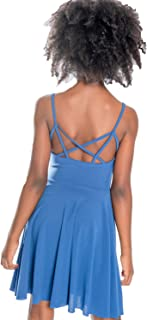 Girls Cage Back Flare Dress