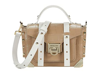 MICHAEL Michael Kors Manhattan Extra Small Top-Handle Crossbody (Truffle Multi) Handbags