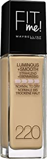 Maybelline Fit Me Luminous + Smooth Foundation - 220, Natural Beige