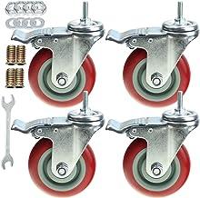 "8x Heavy Duty Nylon Castor Wheel Trolley Casters with Brake for Workbench 1.25/"""