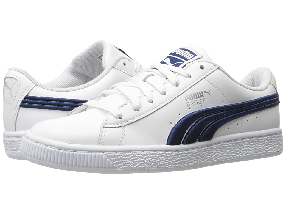 PUMA Basket Classic Badge (PUMA White/Blue) Men