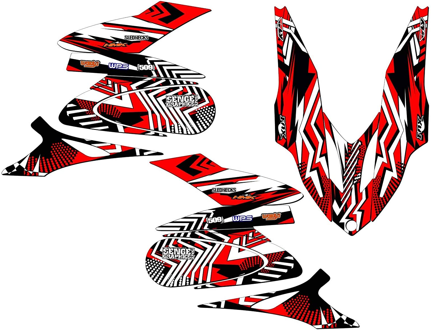 Compatible with Yamaha 2006-2011 Apex Max 70% OFF Sled Mayhem Red Wrap Max 65% OFF