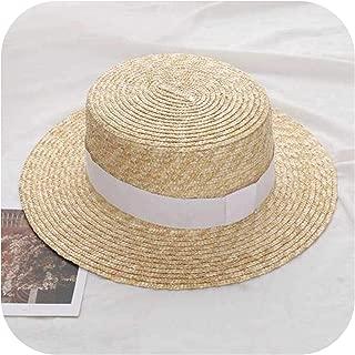 fly-touch Summer Women Wide Brim Straw Fashion Chapeau Paille Sun Hats Boater Wheat Panama Beach Chapeu Caps