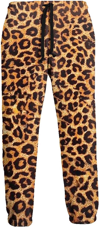 Active Sweats Jogger Pants Leopard Print Running Joggers Casual Sweatpants for Men Women