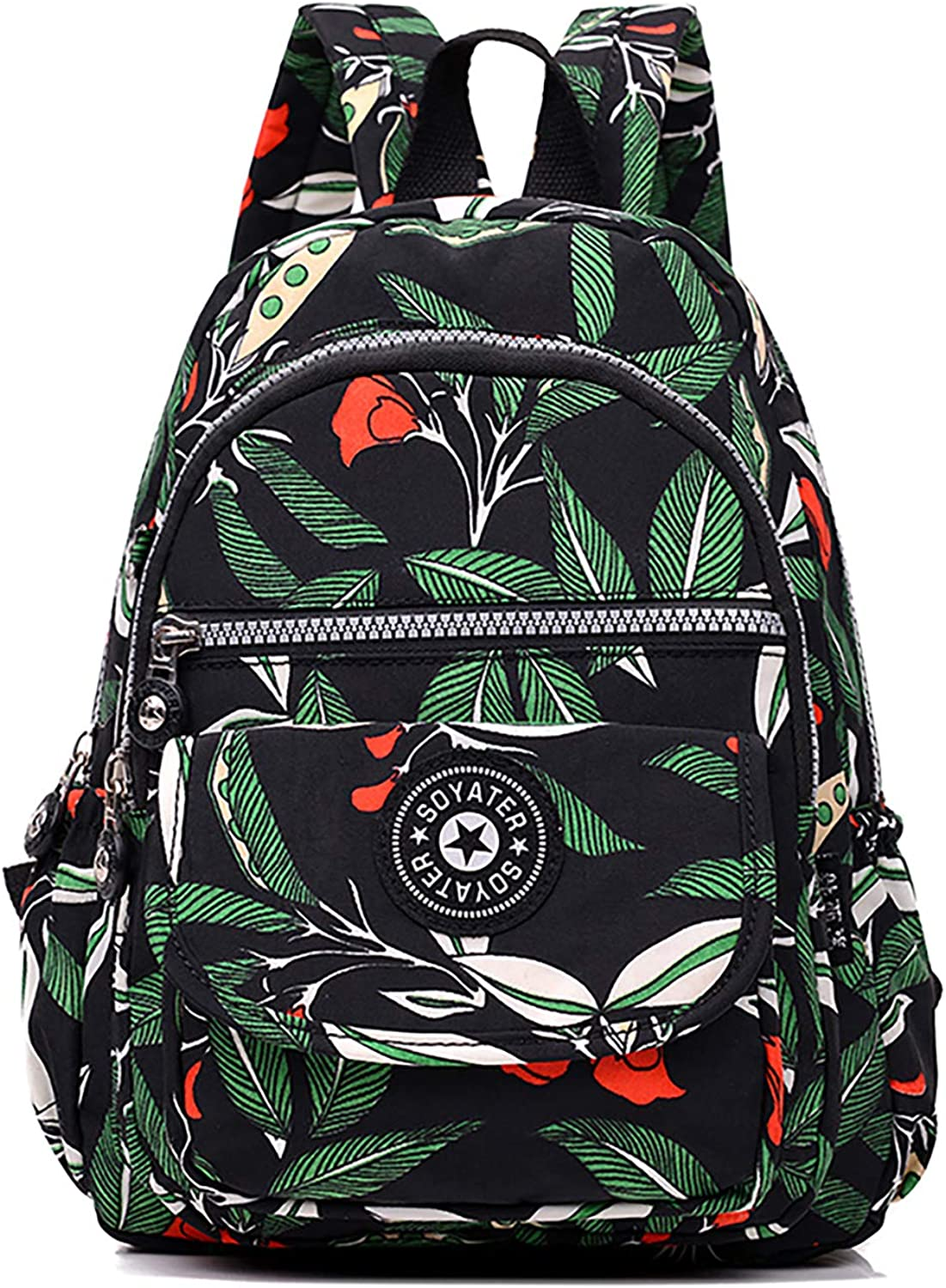 Casual Daypack with Colorful Pattern Water Resistant Stylish Lightweight College School Backpack for Women Men Teen