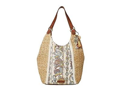 Sakroots Roma Straw Shopper (Sunshine Spirit Desert) Handbags