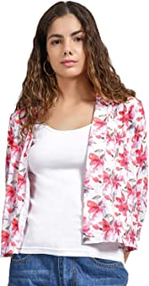 DJ & C by FBB Floral Print Open Front Shrug
