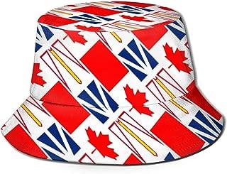 Newfoundland and Labrador Canada Flag Bucket Hat Summer Fisherman Cap Sun Hat for Women Men Black