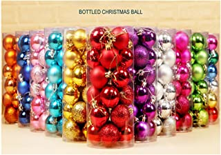 "Lavany® Christmas Tree Ornaments Balls Decorations Xmas Ball Decor for Festival Wedding Party 24PC 30mm-1.18"" Inch (Hot Pink)"