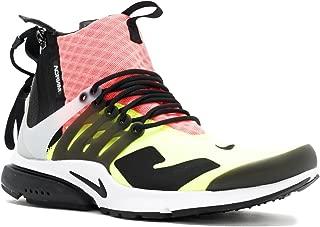 Nike Mens Air Presto Mid Acronym White/Black-Lava-Volt Fabric