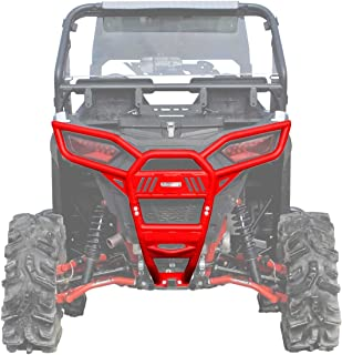 SuperATV Heavy Duty Rear Bumper for Polaris RZR 900 / S 900 / XC 900 (2015+) - SEE FITMENT/Does NOT Fit XP Models - Red