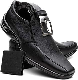 Sapato Social Masculino Em Couro Máximo Conforto Brindes