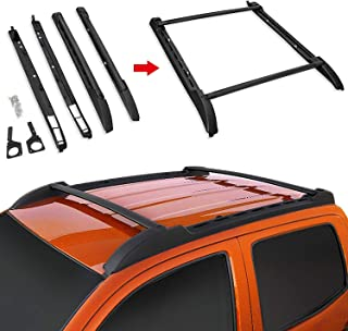 Modifying Crossbars Roof Rack Rails Side Cargo Luggage Carrier Bars Fit for 2005-2018 Toyota Tacoma (4 door) Pickup Double Cab Style Cross Bar - Black