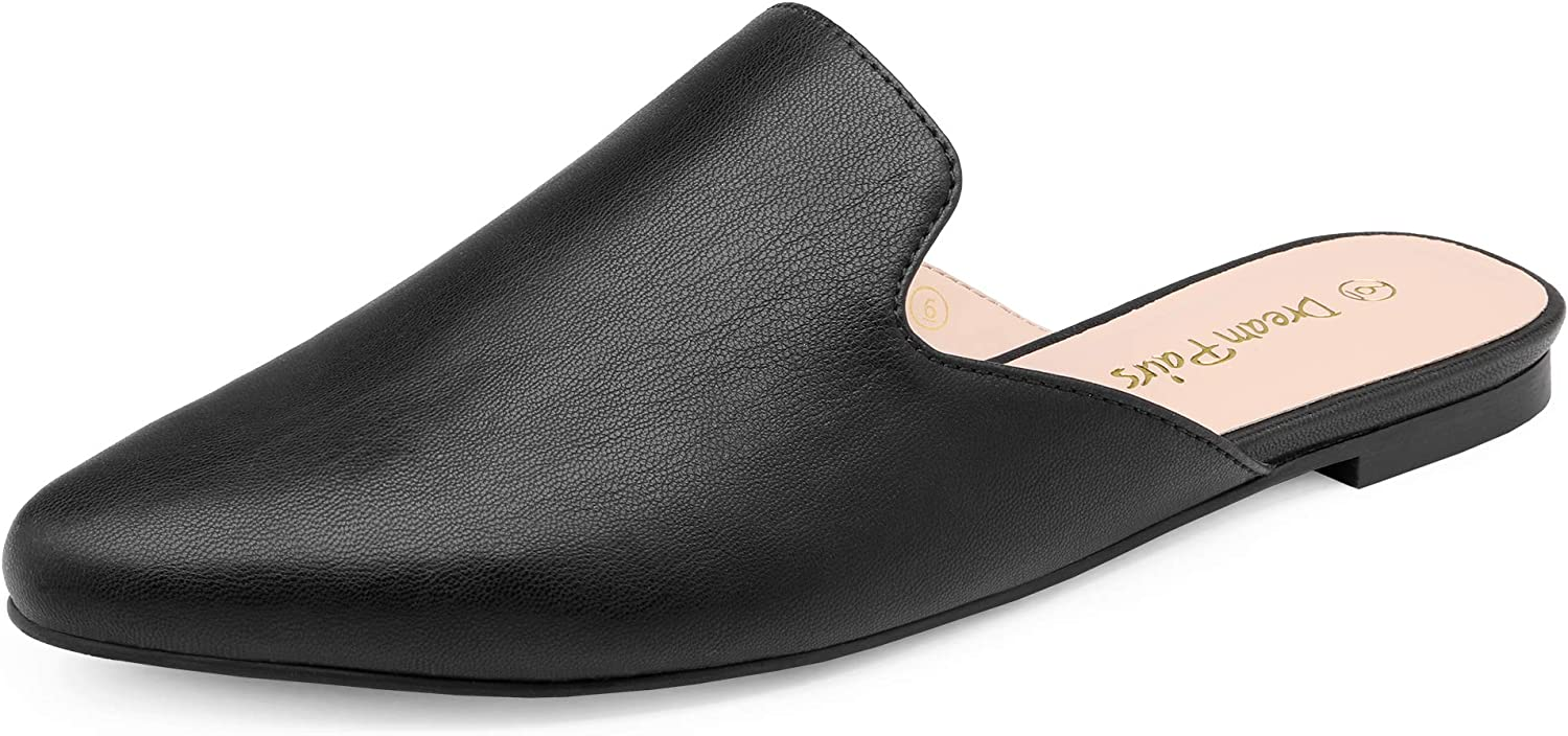 Dallas Mall DREAM PAIRS Credence Women's Flat Mules Shoes Loafer Pointed Toe Backless