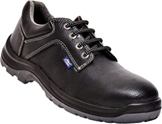 Allen Cooper AC-1284 Safety Shoe, ISI Marked for IS 15298 Part-2, Double Density DIP-PU Sole, Size 7, BLACK