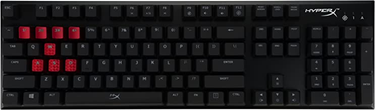 HyperX Alloy FPS - Mechanical Gaming Keyboard & Accessories - Compact Form Factor - Tactile & Quiet - Cherry MX Brown - Red LED Backlit (HX-KB1BR1-NA/A1)