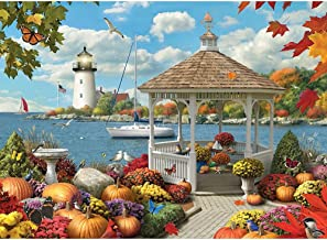 Bits and Pieces - 1500 Piece Jigsaw Puzzle for Adults - Autumn Splendor - 1500 pc Fall by the Water Jigsaw by Artist Alan Giana