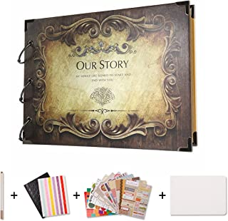 SICOHOME Scrapbook,Our Story Scrapbook Album for Scrapbooking,Gifts and Wedding Guest Book 10.5