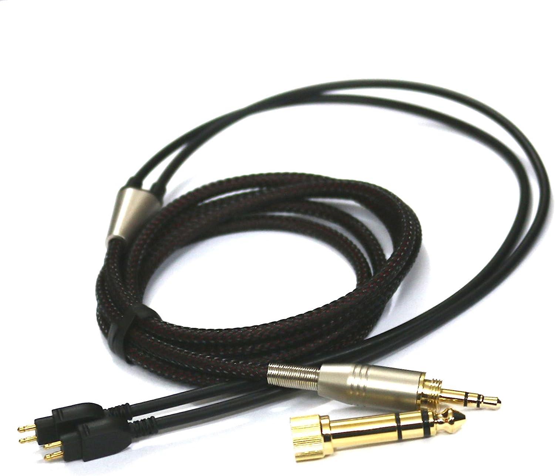 NewFantasia Replacement Audio Upgrade Cable for Sennheiser HD650, HD600, HD580, HD660S, Massdrop HD6XX Headphones 1.2meters/4feet