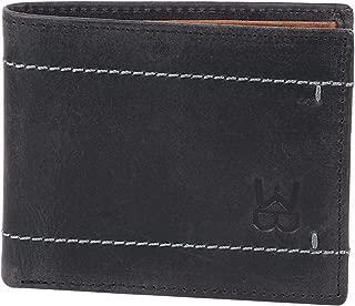 WELBAWT Latest Sleek and Stylish 100% Genuine Leather Bi-Folded Wallet for Men (Raisin Black)