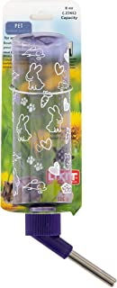 Lixit Translucent Water Bottles for Mice, Hamsters, Ferrets, Rabbits and Other Small Animals. (8 Ounce Pack of 1)
